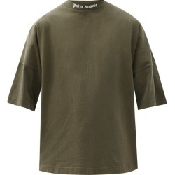 Palm Angels - Logo-print Oversized Cotton-jersey T-shirt - Mens - Khaki found on MODAPINS from MATCHESFASHION.COM - AU for USD $285.20