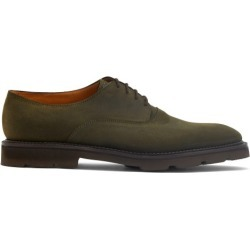 John Lobb - Milton Waxed-suede Derby Shoes - Mens - Dark Green found on MODAPINS from Matches UK for USD $1100.15