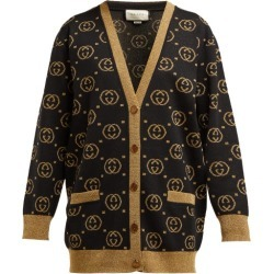 Gucci - GG Jacquard-knit Wool-blend Sweater - Womens - Black Gold found on Bargain Bro India from Matches Global for $1980.00