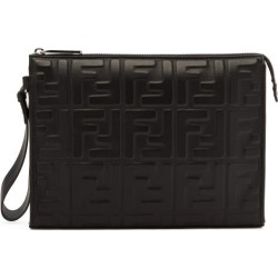 Fendi - Ff-embossed Leather Pouch - Mens - Black found on Bargain Bro UK from Matches UK