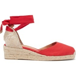Castañer - Carina 30 Canvas And Jute Espadrille Wedges - Womens - Red found on MODAPINS from Matches UK for USD $116.16
