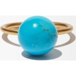 Irene Neuwirth - Turquoise & 18kt Gold Ring - Womens - Blue found on MODAPINS from Matches Global for USD $1760.00