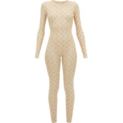 Marine Serre - Reflective Moon-print Jumpsuit - Womens - Beige found on Bargain Bro Philippines from MATCHESFASHION.COM - AU for $648.52