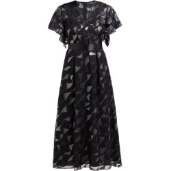 Goat - Evangelina Tie-waist Fil-coupé Dress - Womens - Black Multi found on MODAPINS from Matches Global for USD $483.00