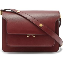 Marni - Trunk Medium Saffiano-leather Shoulder Bag - Womens - Burgundy found on Bargain Bro UK from Matches UK