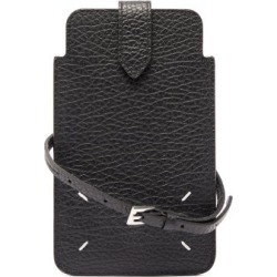 Maison Margiela - Four-stitches Grained-leather Phone Pouch - Womens - Black found on Bargain Bro UK from Matches UK