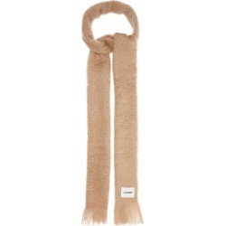 Jil Sander - Fringed Mohair-blend Scarf - Womens - Beige found on MODAPINS from Matches Global for USD $290.00