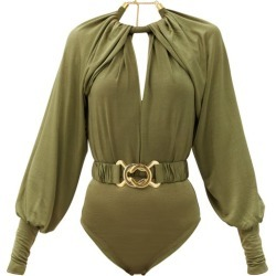 Dodo Bar Or - Mika Belted Crepe Bodysuit - Womens - Khaki found on Bargain Bro Philippines from Matches Global for $535.00