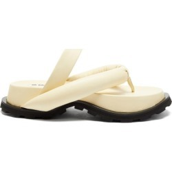 Jil Sander - Padded Nappa-leather Flatform Slides - Womens - Cream found on Bargain Bro UK from Matches UK