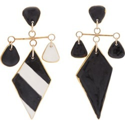 Sonia Boyajian - Tanning Striped Ceramic Earrings - Womens - Black found on Bargain Bro from Matches UK for £233