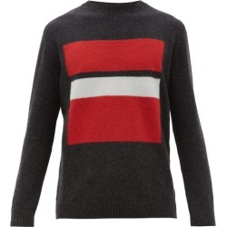 Falke Ess - Ribbed And Striped Virgin Wool-blend Sweater - Mens - Grey Multi found on Bargain Bro India from MATCHESFASHION.COM - AU for $156.84