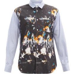 Comme Des Garçons Shirt - X Futura 2000 Printed Striped Cotton-poplin Shirt - Mens - Black Multi found on MODAPINS from MATCHESFASHION.COM - AU for USD $384.38