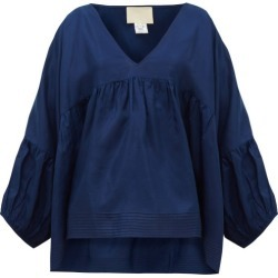 Anaak - Airi Silk-habotai Blouse - Womens - Navy found on MODAPINS from MATCHESFASHION.COM - AU for USD $358.99