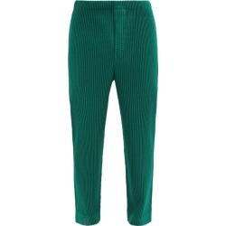Homme Plissé Issey Miyake - Technical-pleated Mesh Straight-leg Trousers - Mens - Green found on MODAPINS from Matches Global for USD $411.00
