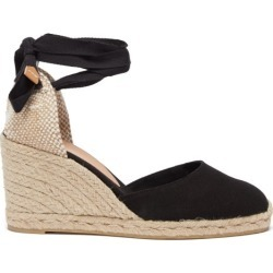 Castañer - Carina 80 Canvas & Jute Espadrille Wedges - Womens - Black found on MODAPINS from Matches UK for USD $116.16