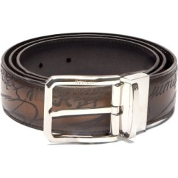 Berluti - Scritto Reversible Leather Belt - Mens - Black Brown found on MODAPINS from Matches UK for USD $708.95