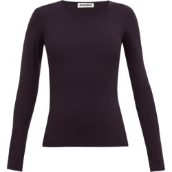 Jil Sander - Round-neck Jersey Top - Womens - Navy found on MODAPINS from Matches Global for USD $270.00