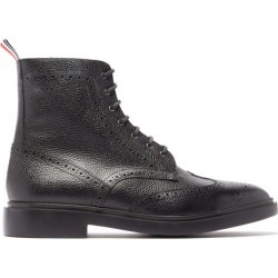 Thom Browne - Bottes à bout golf en cuir grainé façon richelieus found on Bargain Bro Philippines from matchesfashion.com fr for $1040.00
