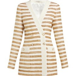 Alessandra Rich - Veste en tweed à double boutonnage rayée found on MODAPINS from matchesfashion.com fr for USD $863.20