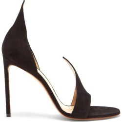 Francesco Russo - Flame Open-toe Suede Sandals - Womens - Black found on MODAPINS from MATCHESFASHION.COM - AU for USD $597.41