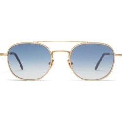 L.g.r Sunglasses - Alagi Double-bridge Metal Sunglasses - Mens - Blue Gold found on Bargain Bro from Matches Global for USD $329.08