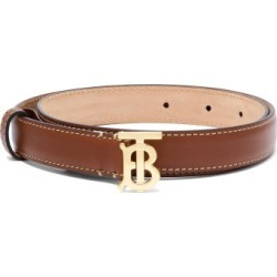 Burberry - Tb-logo Leather Belt - Womens - Tan Gold found on Bargain Bro India from Matches Global for $350.00