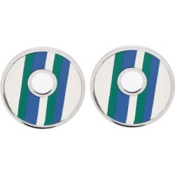 Marni - Striped Leather Clip Earrings - Womens - Blue found on Bargain Bro from Matches UK for £100