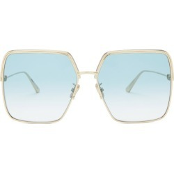 Dior - Everdior Square Metal Sunglasses - Womens - Blue Gold found on Bargain Bro UK from Matches UK