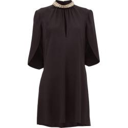 Prada - Crystal-embellished Crepe Dress - Womens - Black found on Bargain Bro UK from Matches UK
