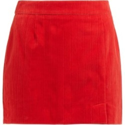 Bella Freud - Alexa Cotton Corduroy Mini Skirt - Womens - Red found on MODAPINS from Matches UK for USD $400.00