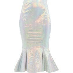 Norma Kamali - Iridescent Fishtail-hem Jersey Skirt - Womens - Silver found on Bargain Bro India from MATCHESFASHION.COM - AU for $173.56