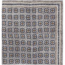 Brunello Cucinelli - Tile-print Linen-blend Mesh Pocket Square - Mens - Grey Multi found on Bargain Bro UK from Matches UK