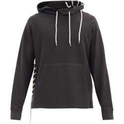 Craig Green - Laced Cotton-blend Hooded Sweatshirt - Mens - Black found on MODAPINS from Matches UK for USD $471.45