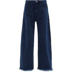 Marques'almeida - Raw-edged Barrel-leg Jeans - Womens - Dark Denim found on MODAPINS from MATCHESFASHION.COM - AU for USD $154.79