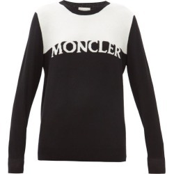 Moncler - Logo-intarsia Wool-blend Sweater - Womens - Black White found on Bargain Bro India from Matches Global for $565.00
