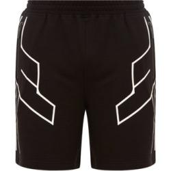 Blackbarrett By Neil Barrett - Geometric-print Jersey Shorts - Mens - Black Multi found on Bargain Bro UK from Matches UK