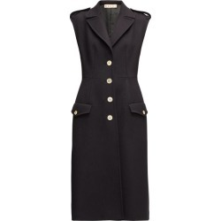 Marni - Sleeveless Single-breasted Wool-twill Coat - Womens - Navy found on Bargain Bro from Matches UK for £640