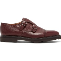 John Lobb - William Monk-strap Leather Shoes - Mens - Burgundy found on MODAPINS from Matches UK for USD $1359.81