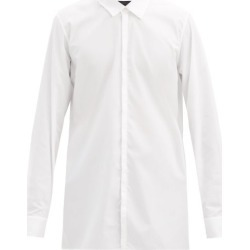 Ann Demeulemeester - Panelled Cotton-poplin Shirt - Mens - 115-001 found on MODAPINS from Matches Global for USD $387.00