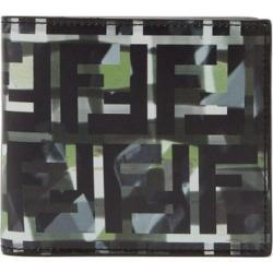 Fendi - Camo-print Monogram Bi-fold Leather Wallet - Mens - Green Multi found on Bargain Bro UK from Matches UK