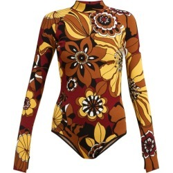 Kwaidan Editions - High-neck Floral-jacquard Bodysuit - Womens - Brown Multi found on Bargain Bro UK from Matches UK