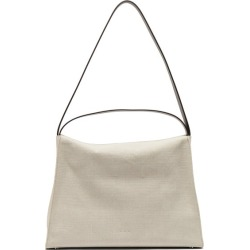 Aesther Ekme - New Duffle Linen And Leather Shoulder Bag - Womens - White found on MODAPINS from MATCHESFASHION.COM - AU for USD $406.21