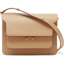 Marni - Trunk Medium Saffiano-leather Shoulder Bag - Womens - Beige found on Bargain Bro from Matches UK for £1458