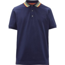 Missoni - Variegated-collar Cotton-piqué Polo Shirt - Mens - Navy found on Bargain Bro UK from Matches UK