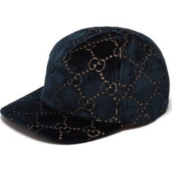 Gucci - Gg Velvet Baseball Cap - Womens - Blue found on MODAPINS from MATCHESFASHION.COM - AU for USD $393.57
