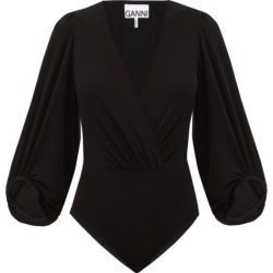 Ganni - Puff-sleeved Jersey Bodysuit - Womens - Black found on Bargain Bro Philippines from Matches Global for $265.00
