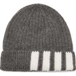 Thom Browne - Four Bar-jacquard Wool Hat - Mens - Grey found on Bargain Bro UK from Matches UK