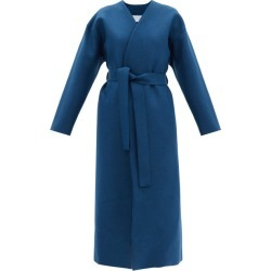 Harris Wharf London - Belted Pressed-wool Coat - Womens - Blue found on MODAPINS from Matches Global for USD $474.00