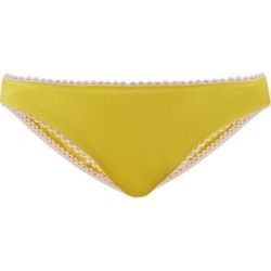 Araks - Isabella Cotton Briefs - Womens - Yellow found on MODAPINS from MATCHESFASHION.COM - AU for USD $36.05