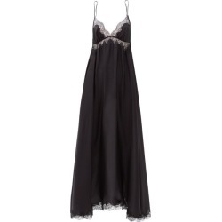 Carine Gilson - Dancer Lace-trimmed Silk-georgette Slip Dress - Womens - Black found on MODAPINS from Matches UK for USD $1901.74